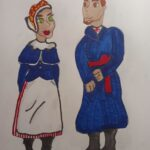 Maja Leśnik kl.6 a, strój folklor kaliski