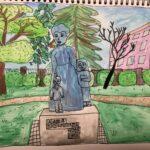 Wiktoria Asperska, 8a, Pomnik M. Konopnickiej
